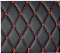 車のトランクマット レザーカートランクプロテクター 、防水 滑り止め 、車のトランクカバー、フォルクスワーゲントゥアレグ2011-2019に適合、防水 防汚 摩擦への抵抗,black red wire