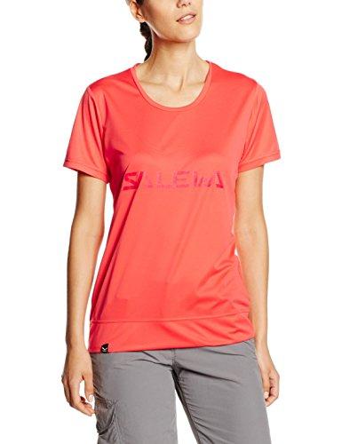 Salewa Puez T-Shirt de randonnée Femme, Hot Coral, FR (Taille Fabricant : XS)