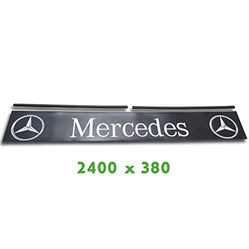 Trupa Heckschürze 2400 x 380 mm + Befestigungsschienen Mercedes LKW Anhänger Auflieger