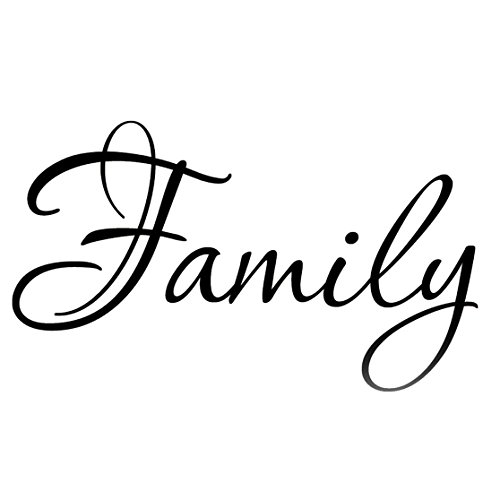 VWAQ Family Wall Quotes Decals Stickers Home Decor Hanging Living Room Sticker Wall Decor