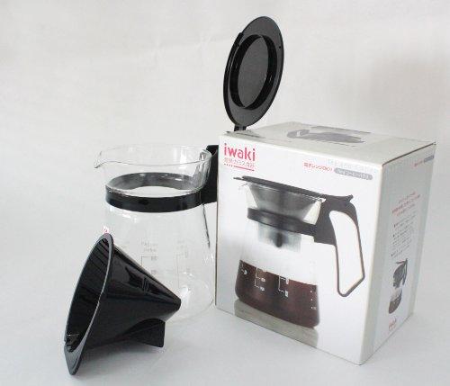 iwaki(イワキ)耐熱ガラスコーヒーサーバー&ドリッパーポットコーヒーハウス600mlKT8685-BK