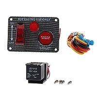 KESOTO イグニッションスイッチパネル 回路スイッチパネル エンジンスタートボタン ON/OFFボタン