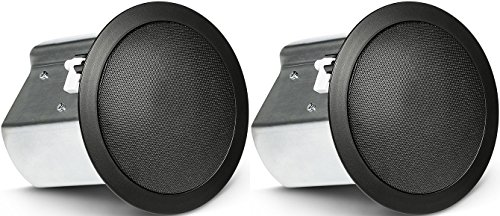 JBL Professional Control 18C/T-BK Two-Way 8-Inch Coaxial Ceiling Loudspeaker, Black, Sold as Pair