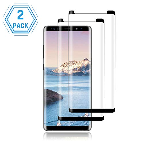 [2-Pack] Galaxy Note 9 Screen Protector,Cafetec[Anti-Bubble][9H Hardness][Anti-Fingerprint][Anti-Scratch] Tempered Glass Screen Protector Compatible with Samsung Galaxy Note 9 Black