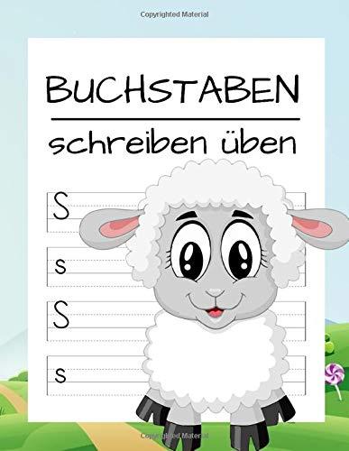 Buchstaben schreiben üben: Einfach Druckbuchstaben lernen | ABC Vorbereitung für Grundschule - Vorschule | Alphabet lernen mit Druckschrift | Schreiben lernen leicht gemacht!