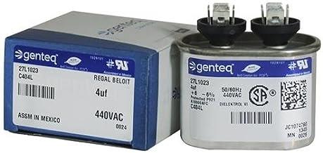 (2) Pack - GE 97F5704-4 uf MFD 370 Volt VAC Genteq Replacement Oval Run Capacitors