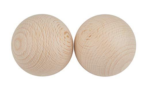 Holzkugeln ohne Bohrung Ø 50 mm, 2 Stück
