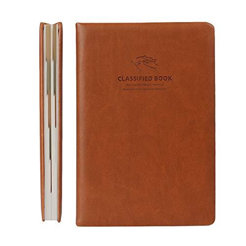Yitrip Notizbuch Tagebuch Notizheft A5(21 * 14.5cm)288 Seiten/144 Blätter mit Hardcover Linien Dauerhaftes Dickes Papier mit Logik Klassifizierungsdesign Einfache Mode für Täglich Schulbüro Geschenk