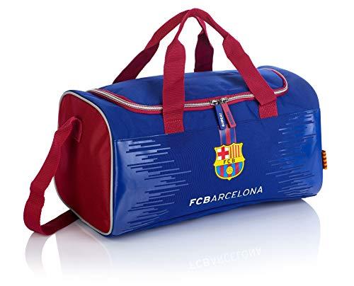 F.C. Barcelona Jungen FC-225 Barca Fan 7 Trainingtasche, navy blue/Burgundy, 38 x 19 x 22 cm