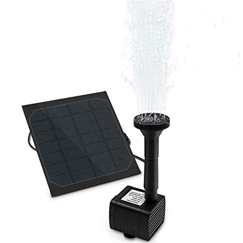 omitium Solar Springbrunnen, Solar Teichpumpe Solar Wasserpumpe Solarpumpe mit 1.5W Monokristalline Monokristalline Solar Panel Brunnen für Gartenteiche,Vogel-Bad, Fisch-Behälter