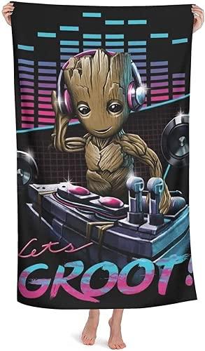Groot - Toalla de playa de secado rápido, para viajes, playa, natación, camping, picnic, yoga (2,100 x 200 cm)
