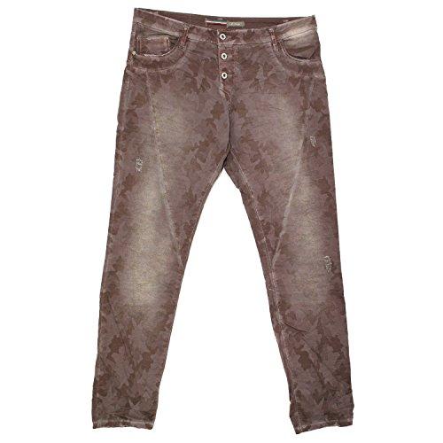 Please, Slim Fit, Damen Jeans Hose, Twill Stretch, Dark Chocolat batic, XL Inch ca. 34 L 32 [19703]