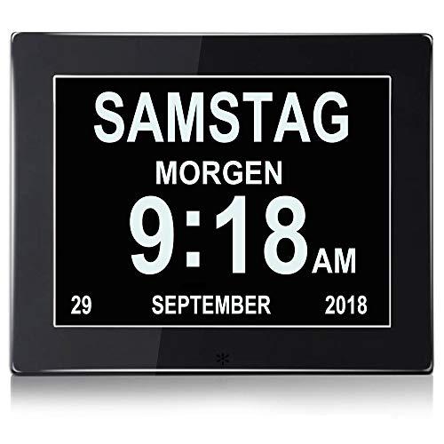 """SENXINGYAN 8\"""" Digital Wecker,Digitaler Kalender Tag Uhr Für Demenz sehschwachen Gelesen Werden -Großer Schrift Elektronischer Kalender Tag Uhr"""