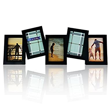 BestBuy Frames 5 Opening Collage and Multiple Frames - Fits Standard 4-Inch-by-6-Inch Photos, Black
