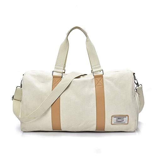 Molletons de Sport Sac Weekender Voyage for Hommes Femmes Duffel Sac Fitness Gym Duffle Bag Sacs de Sport Grand Format (Color : Creamy-White, Size : One Size)