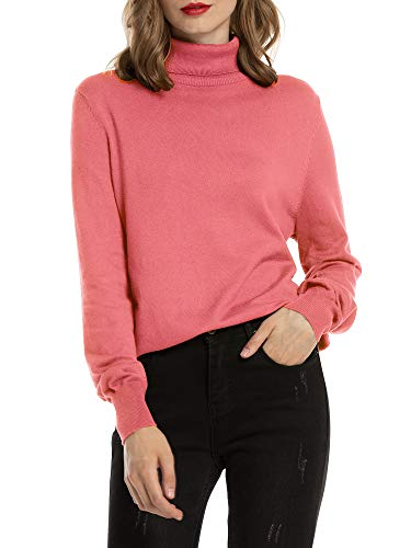 Woolen Bloom Jersey Cuello Alto Camiseta Manga Larga Sueter Invierno Jersey Basico Suelto Jerseys...