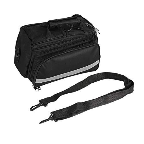 Radfahren Fahrrad Fahrradkoffer Rücksitz Tasche Gepäckträger Kofferraum Griff Handtasche Lagerung neue brandneue Marke (schwarz)
