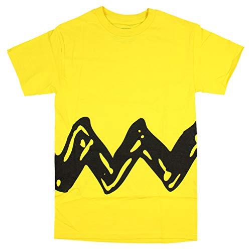 Peanuts Charlie Brown Double Sided Zig Zag Costume Shirt (Medium)