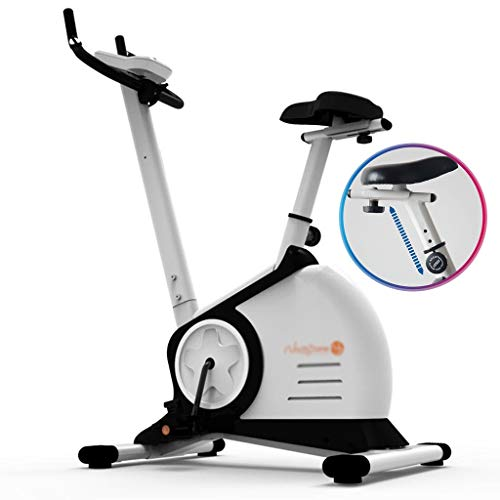 Read About Exercise Bikes Spinning Bike Home Fitness Equipment Quiet Indoor Heart Rate Monitoring Sports Bicycle Load Bearing 110kg (Color : White, Size : 10350136cm)