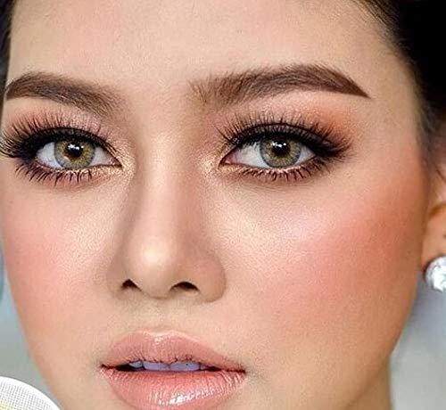 Freshlady Hidrocor Jahreslinsen: natürliche, farbige Kontaktlinsen, deckende Kontaktlinsen für dunkle Augen: Blau, grau, grün, braun (Quartzo)