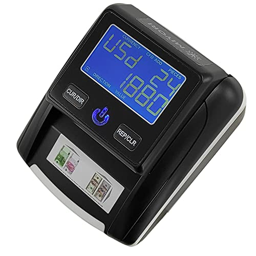 Counterfeit Bill Detector. Checks for UV(Ultraviolet), MG(Magnetic), IR(Infrared), Paper Quality and Size. Multicurrency USD, EUR,