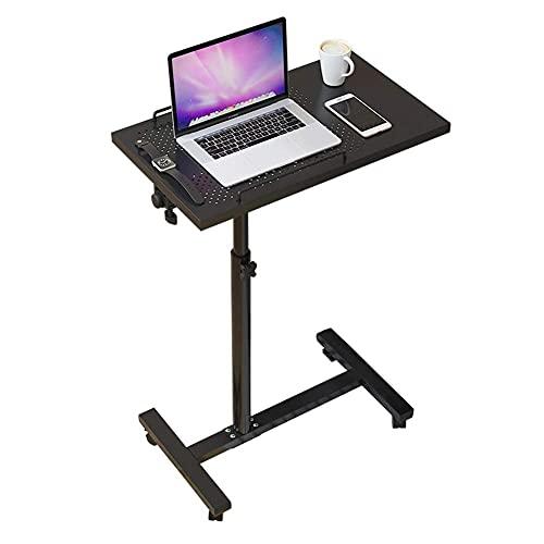 FGDSA Escritorio de Mesa con Ruedas Escritorio de Mesa inclinable Mesa de sobremesa Ajustable en ángulo y Altura con Ruedas para Oficina en casa Color Blanco
