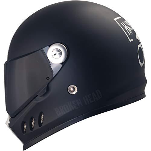 Broken Head Hated and Proud - Motorrad-Helm Mit Schwarzem Visier - Exklusiver Marken-Helm - Größe M (57-58 cm)