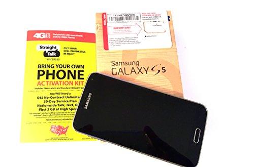 Straight Talk Samsung Galaxy S5 Black run's on Verizon's 4G XLTE Towers via Straight Talk's $45 Unlimited 5GB Plan