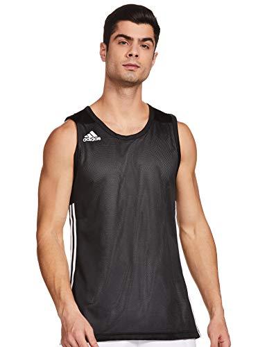 adidas 3G SPEE Rev JRS Camiseta sin Mangas, Hombre, Black/White, 2XLT