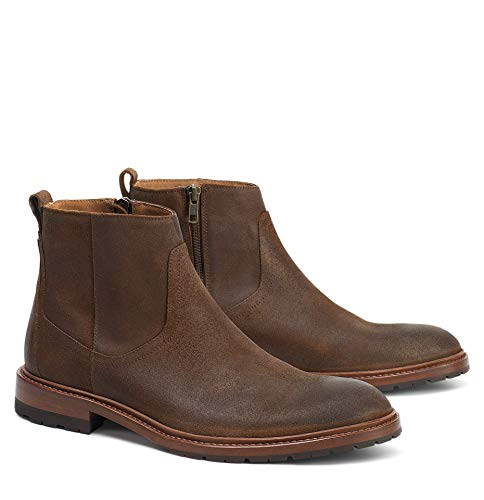Trask Men's Larkin Brown Waxed Suede 8 M US