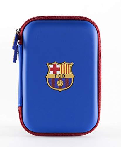 Funda Universal FC Barcelona para HDD, Discos Duros, Powerbank, cables, auriculares y accesorios tecnológicos.