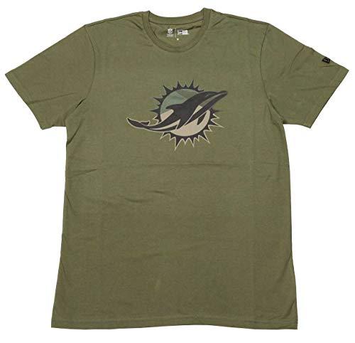 New Era Camo Logo Shirt - NFL Miami Dolphins Oliv - XXL