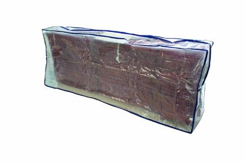 234834 draagtas voor kussens transparant gecoat polyethyleenweefsel L 130 x B 32 x H 50 cm