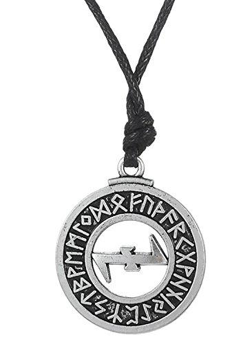 Wiccan Klassischer Talisman-Amulett mit Runen-Anhänger, Halskette, Schmuck, Geschenk für Männer und Frauen