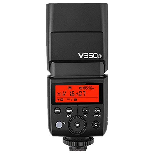 Godox V350N - Flash (Flash Compacto, Negro, 1,7 s, Nikon, 0,1 s, 36 m)