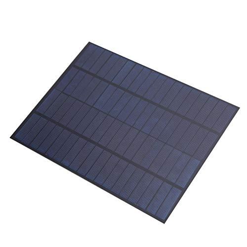SALUTUYA Panel Solar Ligero de silicio policristalino portátil de 5W 18V Panel Solar Ligero con Cable para semáforos, Ventiladores eléctricos