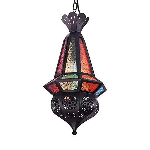 Lámpara colgante, Marruecos Artesanía Diseño Lámpara de techo Lámpara marroquí Lámpara colgante E27 Socket Orientar lámparas para sala de estar, cocina o colgar sobre la mesa de comedor