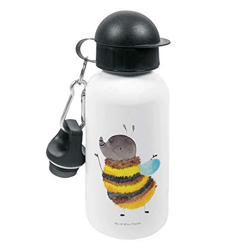 Mr. & Mrs. Panda Kindergarten Flasche, Kinderflasche, Kinder Trinkflasche Hummel flauschig - Farbe Weiß