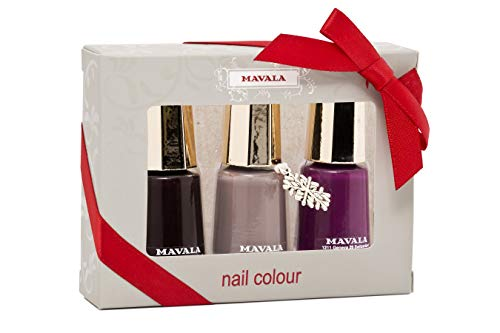 Home Mavala Nagellack, Deep Cherry Nude, Violett, 3-teiliges Set