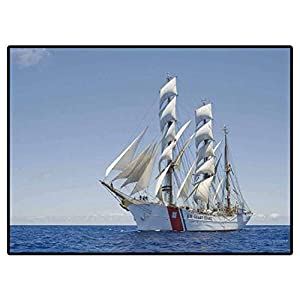 Home Decor Rugs Sailboats on The sea (4) for Kids Baby Room Bedroom Nursery 6.5 x 9.8 Ft