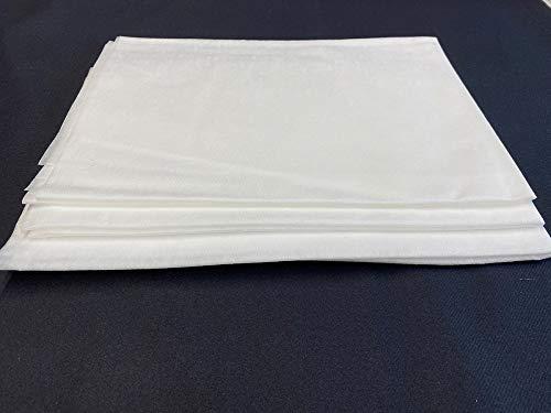 Mank Einweg Bettwäsche | Bettlaken aus PP-Vlies | Bettlaken | Abdeckung | Massageabdeckung | Weiß | Hygiene | Hygienelaken (130 x 230 cm (10 Stück))