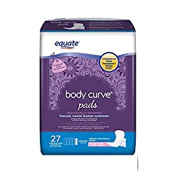 powerful Set of 4 – Equivalent Body Curve Ultimate Absorbent Incontinence Pad, Long, 27 Pieces