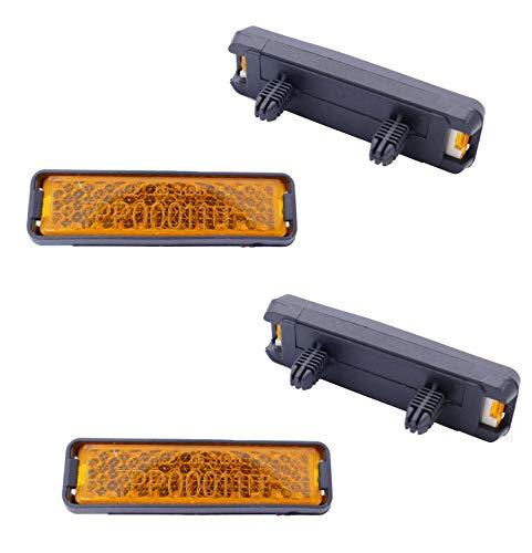 P4B | Reflektoren für Fahrrad Pedale | Pedal Reflektor (B) 4X Reflektoren zum Einklicken