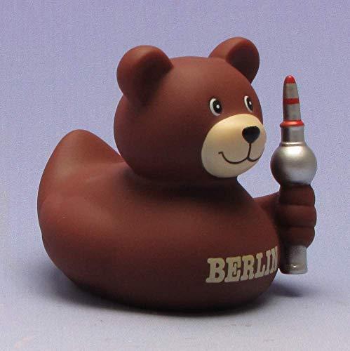 Berliner Bär Badeente I Quietscheentchen I Duckshop I L: 8 cm