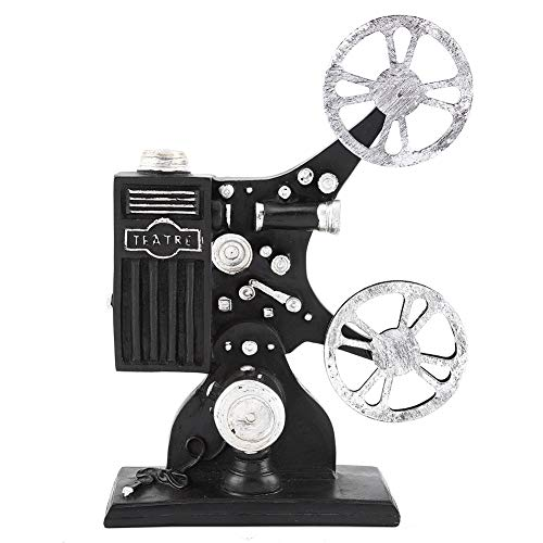 Film Projector Model, Vintage Resin Movie Projector Model Desktop Crafts Home Decoration Collectible Sculpture Ornament Photo Prop Figurine Figure Props Home Decor¡ꡧ9.45 x 6.69 x 2.36 inch¡ê?