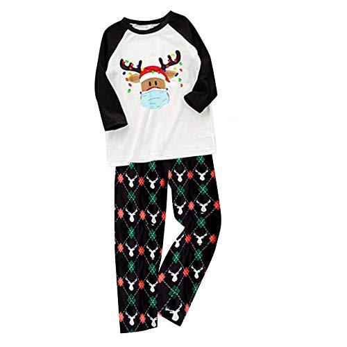 Writtian Pijamas De Navidad Familia Conjunto Bebés Mamá Papá Niño Niña Ropa de Dormir Casa Casual Suave y Comodo Cuadros Pantalon y Top Estampadas Variadas Talla Grande