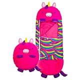 ValueVinylArt Kids Sleeping Bag, Happy Play Pillow Nappers Portable and Foldable Sleeping Bag with Pillow, Cute Soft Animal Sleeping Bag for Kids Boys Girls (B)