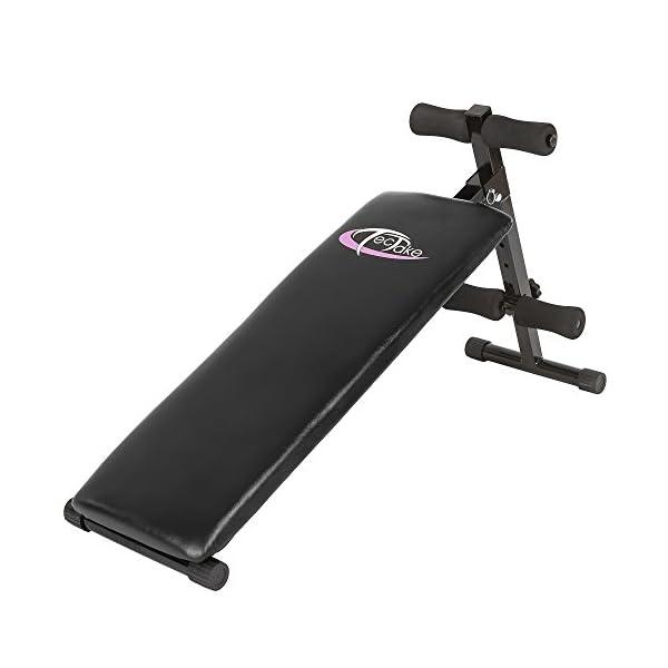 tectake-401078-Banc-de-Musculation-pour-Muscles-Abdominaux-120-cm-x-33-cm-x-63-cm-Appareil-de-Fitness-Sport