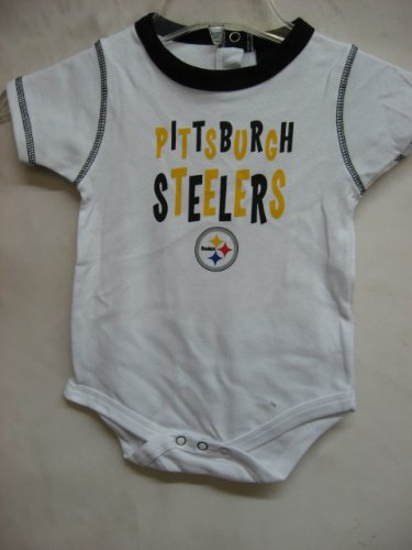 Pittsburgh Steelers NFL Infants Baby UNISEX Set of 3 Bodysuit - Onesie (24 Months)