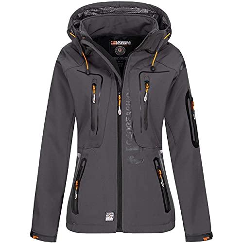 Geographical Norway Damen Softshell Outdoor Jacke Dark Grey XL